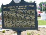 Gen. J.O. Shelby Park historic marker.